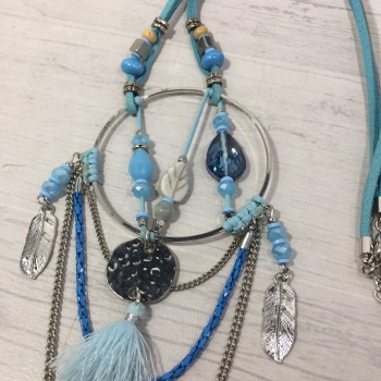 Collier attrape rêves turquoise