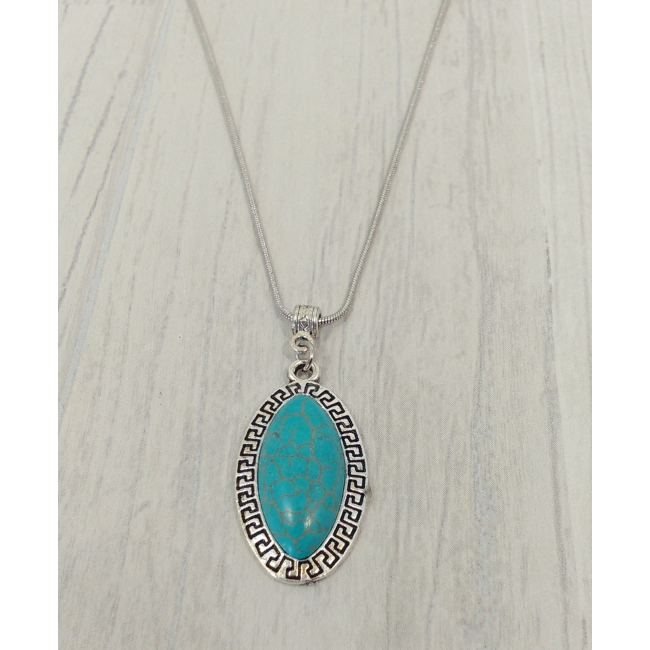Collier cabochon turquoise