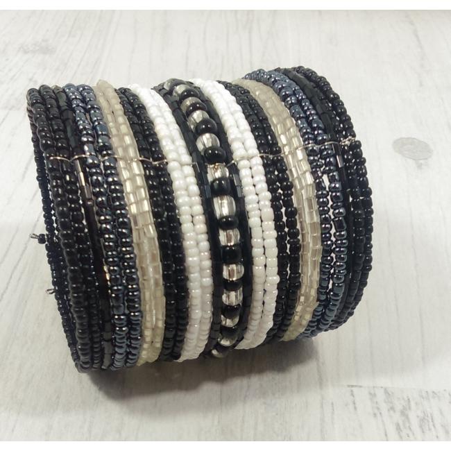 Bracelet manchette en perles
