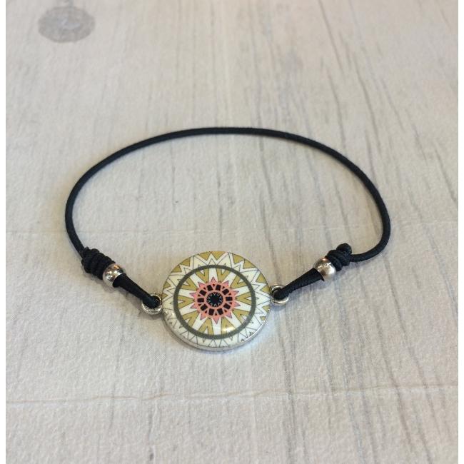Bracelet élastique beige