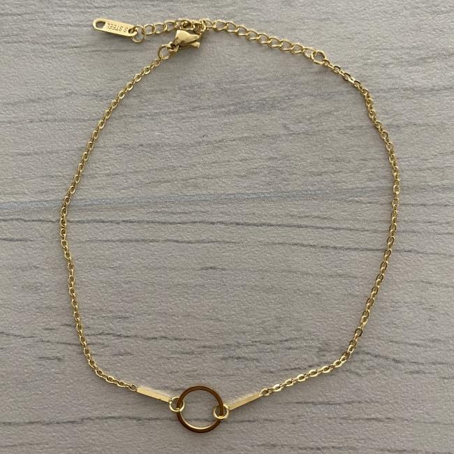 Bracelet de cheville cercle doré