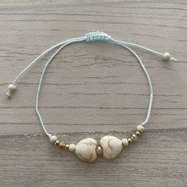 Bracelet bleu coeur