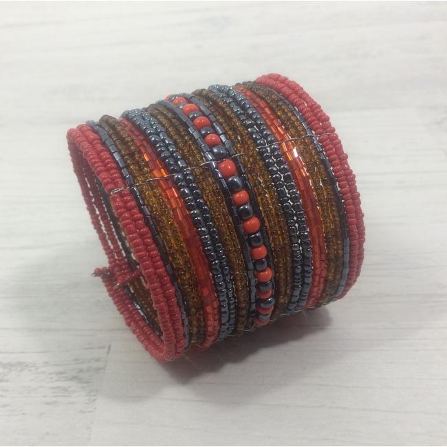 Bracelet manchette rouge