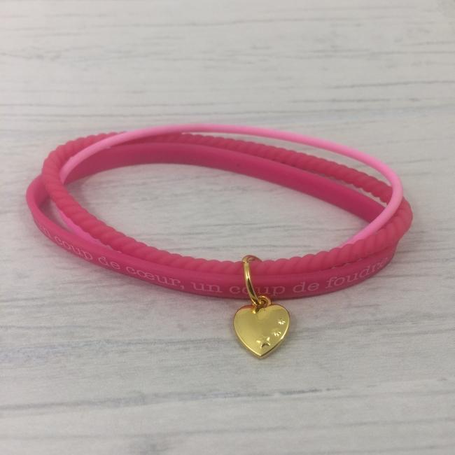 Bracelets en silicone roses