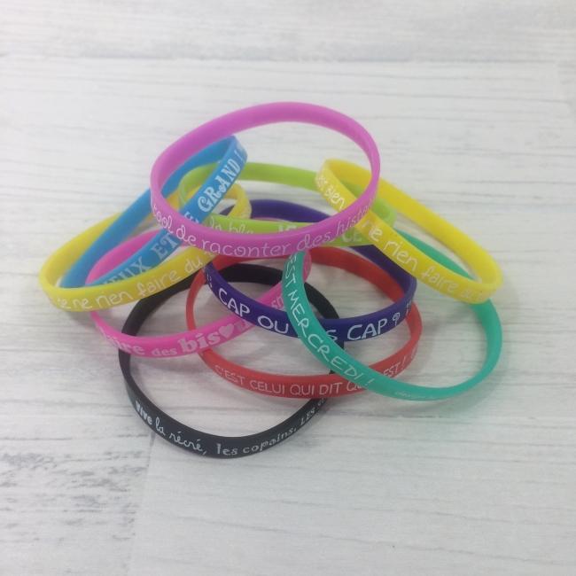 Bracelets en silicone multicolores