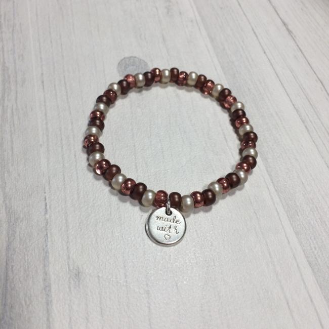 Bracelet marron en perles