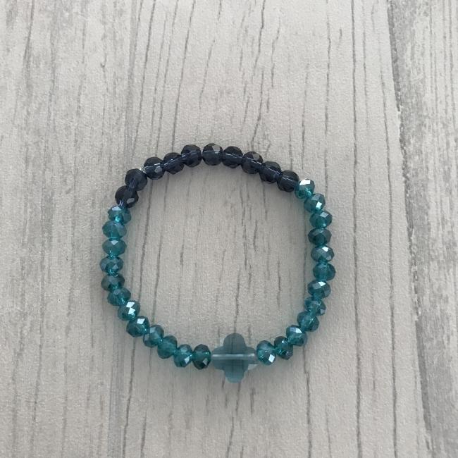Bracelet en dégradé de bleu
