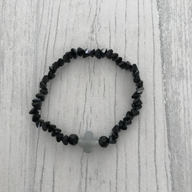 Bracelet noir en perles