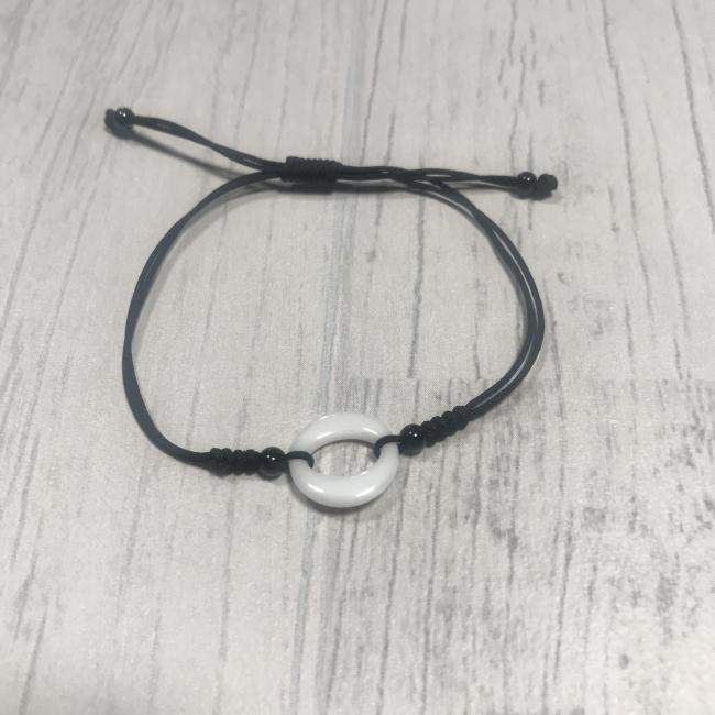 Bracelet rond épais en céramique