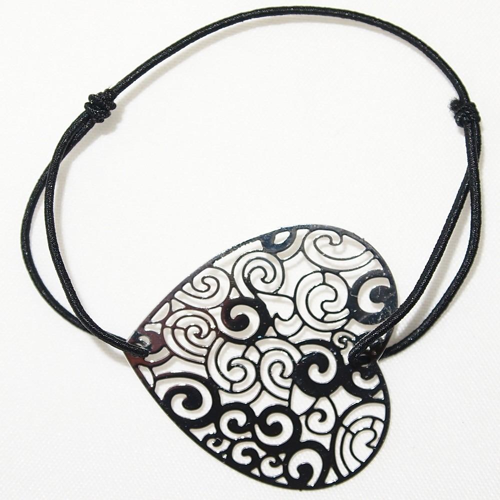 bracelet  u00e9lastique coeur filigrane en m u00e9tal