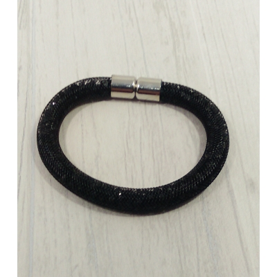 Bracelet filet strass noir