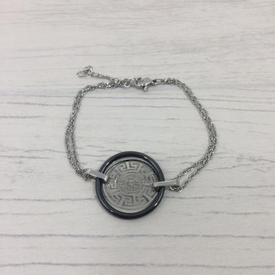Bracelet en acier et céramique