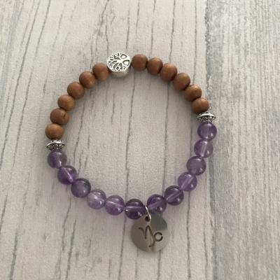 """Bracelet en pierres naturelles """"capricorne"""""""