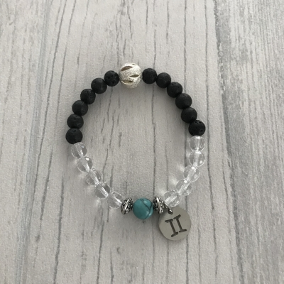 """Bracelet en pierres naturelles """"gémeaux"""""""