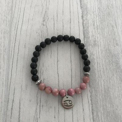 "Bracelet en pierres naturelles ""cancer"""
