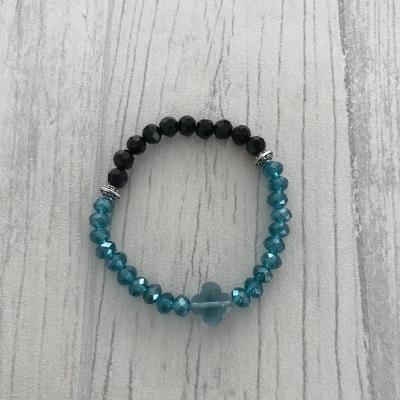 Bracelet bleu et noir