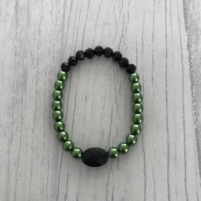 Bracelet vert et noir