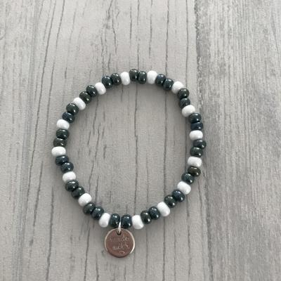 Bracelet vert et blanc