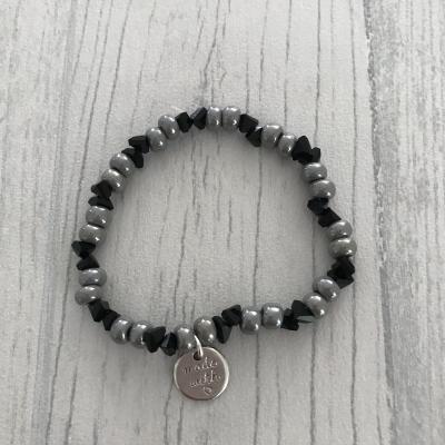 Bracelet kaki et noir