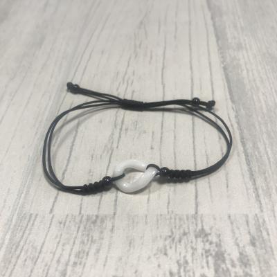 Bracelet rond torsadé en céramique