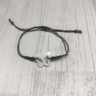 Bracelet papillon en céramique