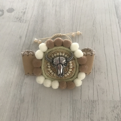 Bracelet manchette buffle