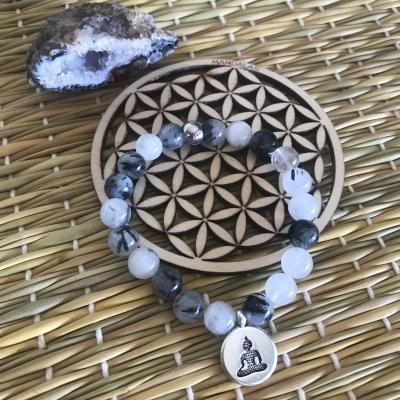 Bracelet en quartz tourmaline