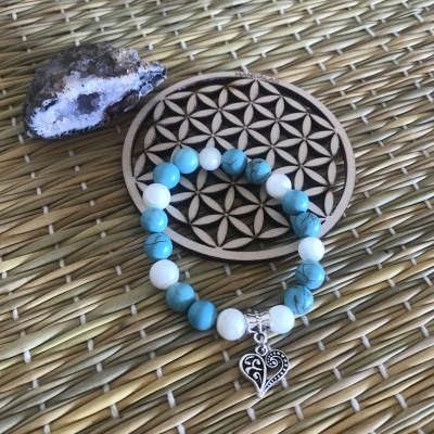 Bracelet en turquoise et nacre
