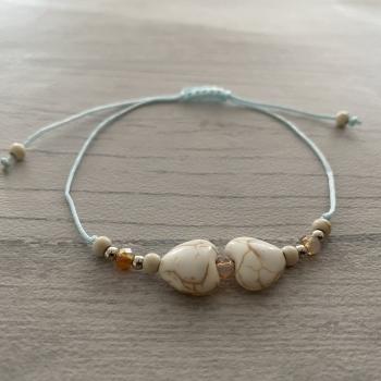 Bracelet bleu cœur