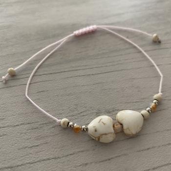 Bracelet rose cœur
