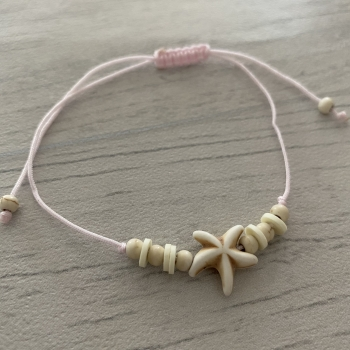 Bracelet rose étoile