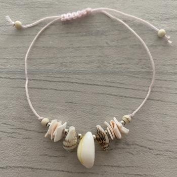 Bracelet rose coquillage