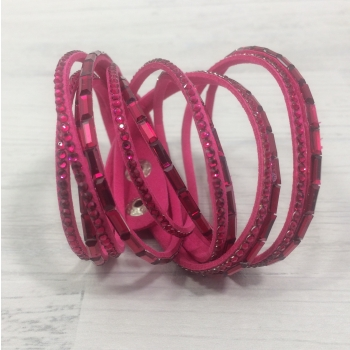 Bracelet strass fushia