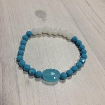 Bracelet bleu et blanc