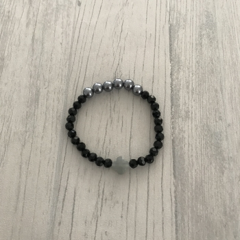 Bracelet noir et gris