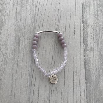 Bracelet en dégradé de rose